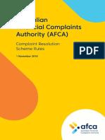 AFCA - Rules.pdf