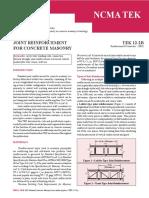 TEK 12 2B __ Joint Reinforcement for Concrete Masonry