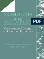 PRESIDENTS AND ASSEMBLIES Matthew Soberg Shugart,John M. Carey.pdf