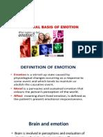 Neural Basis of Emotion Ppt
