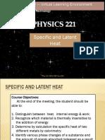 Physics (latent heat)