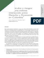 Obstáculos Y Riesgos - Interacción Entre Derecho Y Economía - Juan Antonio Gaviria