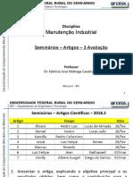 Manutencao Industrial - 4.1 - Seminários 3ª Avaliacao