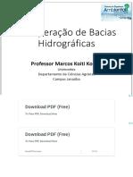 Recuperação de Bacias Hidrográficas - PDF