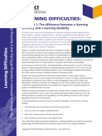 Learning Difficulties - Factsheets