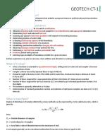 Geotech class test solution