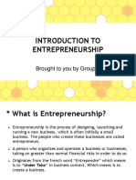 TITLE INTRODUCTION TO INTREPRENEURSHIP