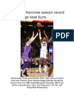 Hield Sets Franchise Season Record for 3s, Kings Beat Suns