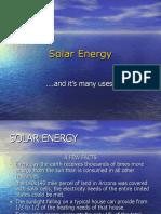 Solar Energy (&PV)