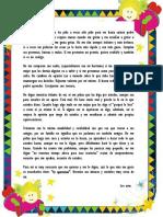Carta a Los Padres