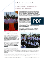 Burma Update - USDP Claimed Victory - 27 Oct 2010