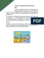 Los 14 Principios de La Administración Henri Fayol CON IMÁGENES
