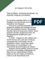 Koning Boudewijn en Happart. Het echte verhaal (Thierry Debels)