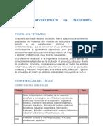 Perfil Del Titulado y Competencias
