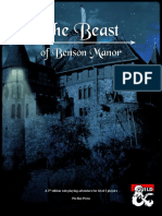 The Beast of Benson Manor
