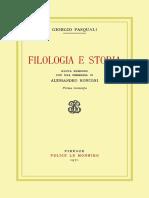 Giorgio Pasquali - Filologia e storia-Le Monnier (1971).pdf