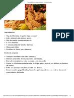 Receita de Isca de Frango Empanado - Comida e Receitas