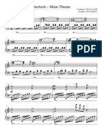 Sherlock Piano Cover Sheet Music