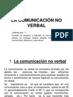 Diapositivas de La Comunicación No Verbal