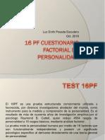 16 PF Cuestionario Factorial de Personalidad