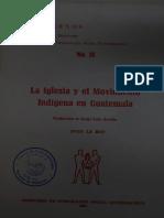 La iglesia y el movimiento indígena en Guatemala