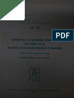 introducción a la lingüística descriptiva con énfasis en la en la descripción de de los idiomas mayenses en Guatemala