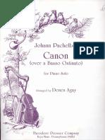 Pachelbel Canon for Piano Original