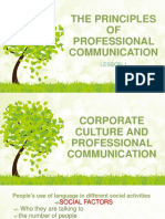 The Principles of Professional Communication