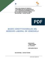 Bases Constitucionales Del Derecho Laboral en Venezuela