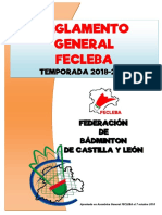 FECLEBA.- Reglamento General 2018-2019