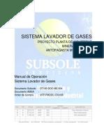 Sistema lavador de gases