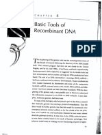 Basic Tools of Recombinant DNA