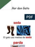 El Señor Don Gato Vocabulario