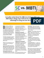 Disc vs Mbti