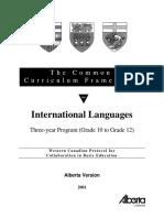 Common Curriculum for Languages