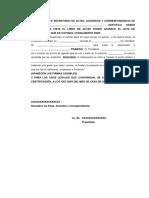 Certificacion de Acta