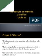 AULA 2 - Introdução Ao Método Científico (2019)