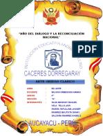 Caratula Andres Avelino Caceceres y Monografia Del Arte Clasico Griego