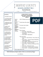 Moffat County School Board of Education Agenda