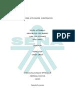 Informe Actividad de Investigacion Calzanet