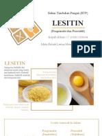 Lesitin sebagai BTP
