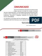 Block Informativo IIEE Privadas