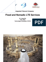 Fixed and Nomadic LTE Services
