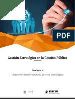 Gestión Estratégica en la Gestión Pública