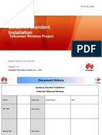 Guidance Standard Installation Telkomsel Project IRO - 2018