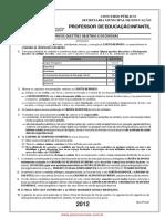 1 Para PDF Pmd Prova Prof Ed Infantil 2012