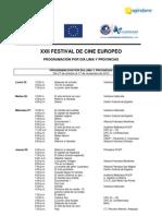 Programación XXII Festival de Cine Europeo (por día)