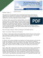 HealthMeans Starter Kit Sayer Ji Transcript