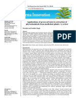 Application of Green Solvents in Plants Extraction