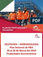 Plan de Perforacion y Voladura Del 20 Al 26 de Marzo Del 2019 - Propiedades Geomecanicas